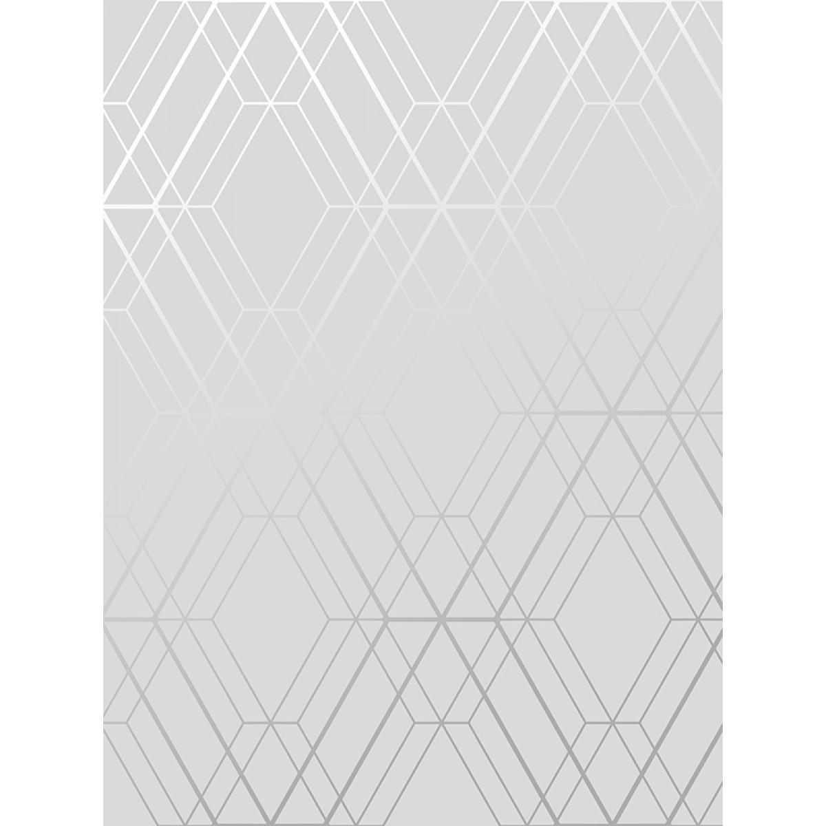 Metro Diamond Geometric Wallpaper Grey And Silver Wow001