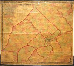 Map Lake Amp Beers Philadelphia Vicinity 1860 Laminated