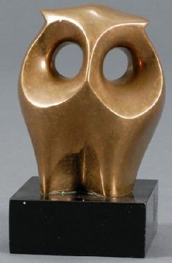 Brass Sculpture Scardia Tony Signed Figure Of