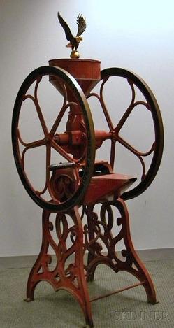 Coffee Mill Fairbanks Morse Floor Model Double Wheel 6 Ft