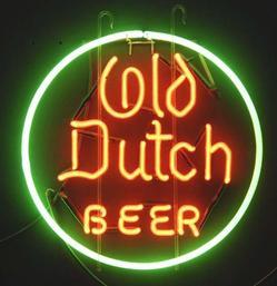 Advertising Beer Eagle Brewery Sign Old Dutch Beer
