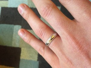Does This 4mm Wedding Band Look Too Narrow On My Finger