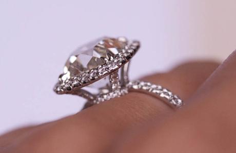 Jewel Of The Week 5 Carat Cushion Cut Diamond Ring