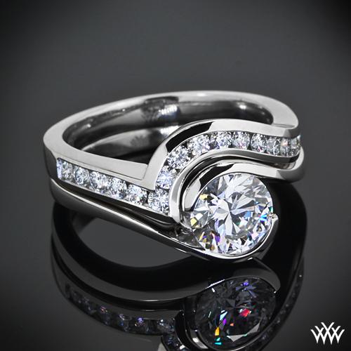 Custom Curved Channel Set Diamond Wedding Band PriceScope