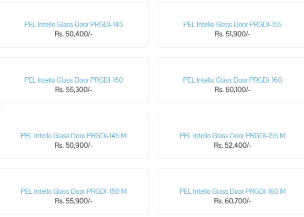 PEL Fridge Price in Pakistan 2019 Full Size, Medium Size and Small Size