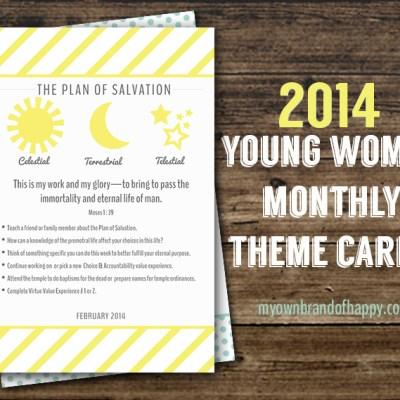 FREEBIE – February 2014 YW Monthly Theme Card