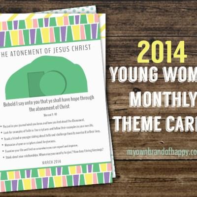 FREEBIE – March 2014 YW Monthly Theme Card