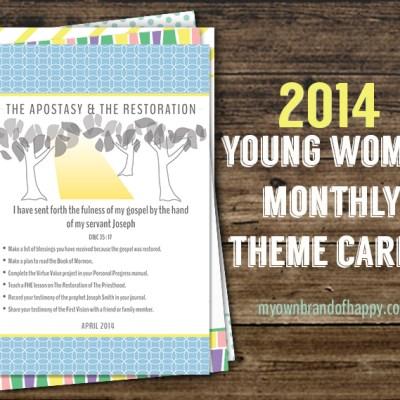 FREEBIE – April 2014 YW Monthly Theme Card