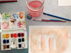 watercolored m | My Own Brand Of Happy {MOBOH} | One Little Word 2015