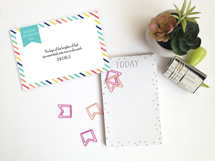 YW 2016 June Monthly Theme Card | Prickly Pear Design Co. | Young Women Printables | Young Women Freebies | LDS Art