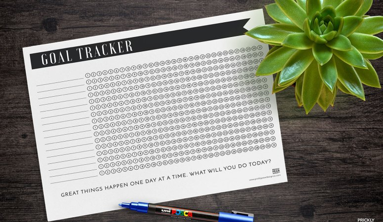 The Best Way to Get Stuff Done – Free Goal & Habit Tracker Printable