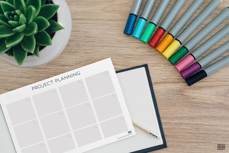 How to Get a Huge Project Done on a Short Time Frame | Prickly Pear Design Co. | FREE Project Planning Worksheet | LDS printables | DIY Design | DIY Planners & Organization