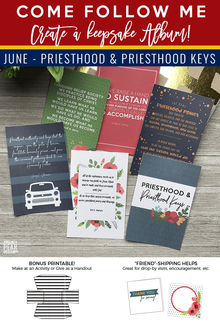 Come Follow Me Handouts | June - Priesthood & Priesthood Keys | LDS Youth Curriculum | Free LDS printables