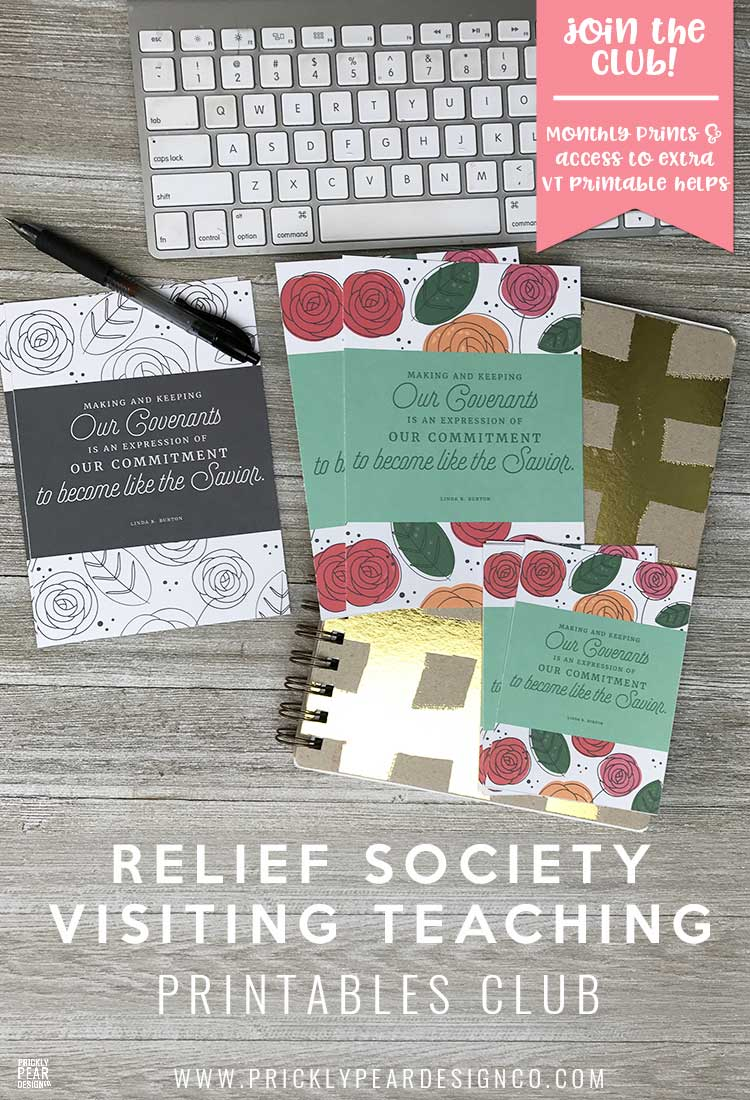 Relief Society Visiting Teaching Printables Club | Prickly Pear Design Co. | Free LDS Printables | Young Women Printables | Relief Society Printables