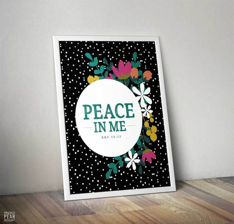 2018 LDS Young Women Mutual Theme Kit | Peace in Me | D&C 19:23 | Prickly Pear Design Co. | Free 2018 Mutual Theme Print