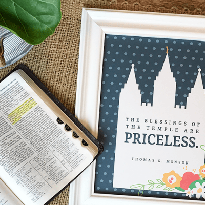 LDS Young Women Personal Progress Activity Idea – Individual Worth #4 & Temple Blessings