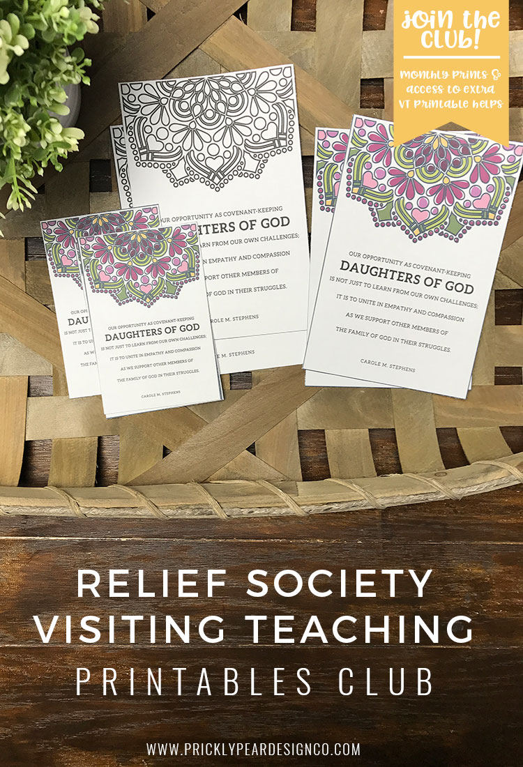 12 months of Visiting Teaching Prints Straight to your Inbox and Ready to Print |  Visiting Teaching Printable for September 2017 | Of One Heart | Relief Society | Visiting Teaching Handouts | Prickly Pear Design Co.