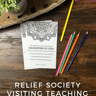 FREE Relief Society Visiting Teaching Printable for September 2017  – Of One Heart