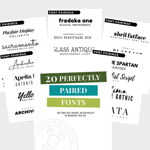 20 Perfectly Paired Fonts Guide