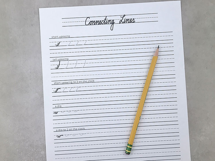 Cursive Handwriting Worksheets from Prickly Pear Design Co.