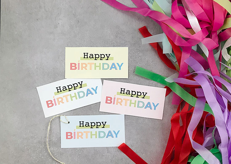 Happy Birthday Confetti Balloons from Prickly Pear Design Co.