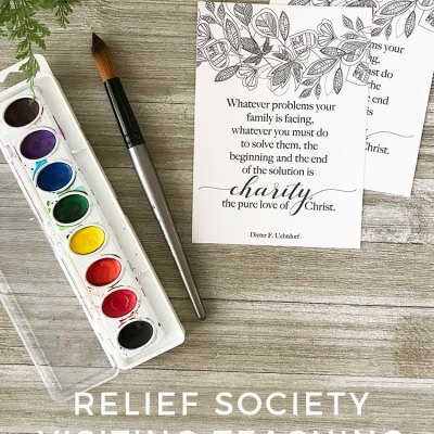 FREE Relief Society Visiting Teaching Printable for October 2017 – Enfolding with Love Those Who Stray