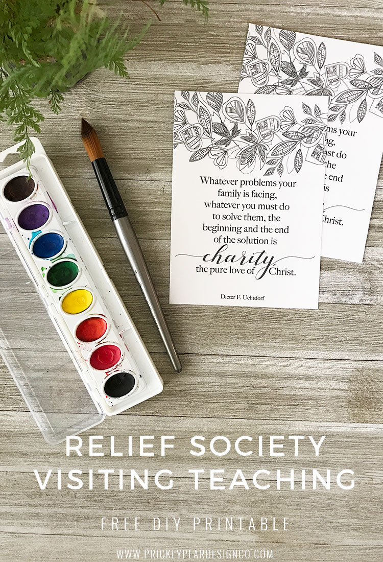 Enfolding with Love Those Who Stray | Relief Society Visiting Teaching DIY Printable | FREE LDS Printables | Relief Society | Prickly Pear Design Co.
