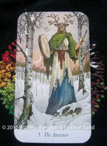 The wise Ancestor from the Wildwood Tarot
