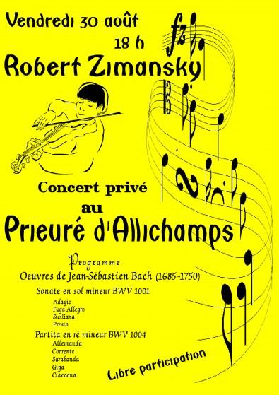 Saison 2013 – Robert Zimansky en concert privé