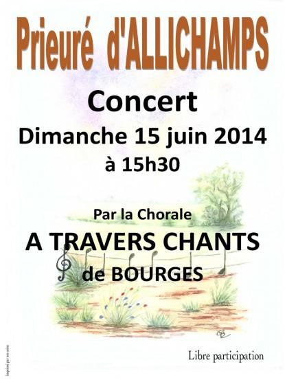 Saison 2014 – Chorale «A travers chants»