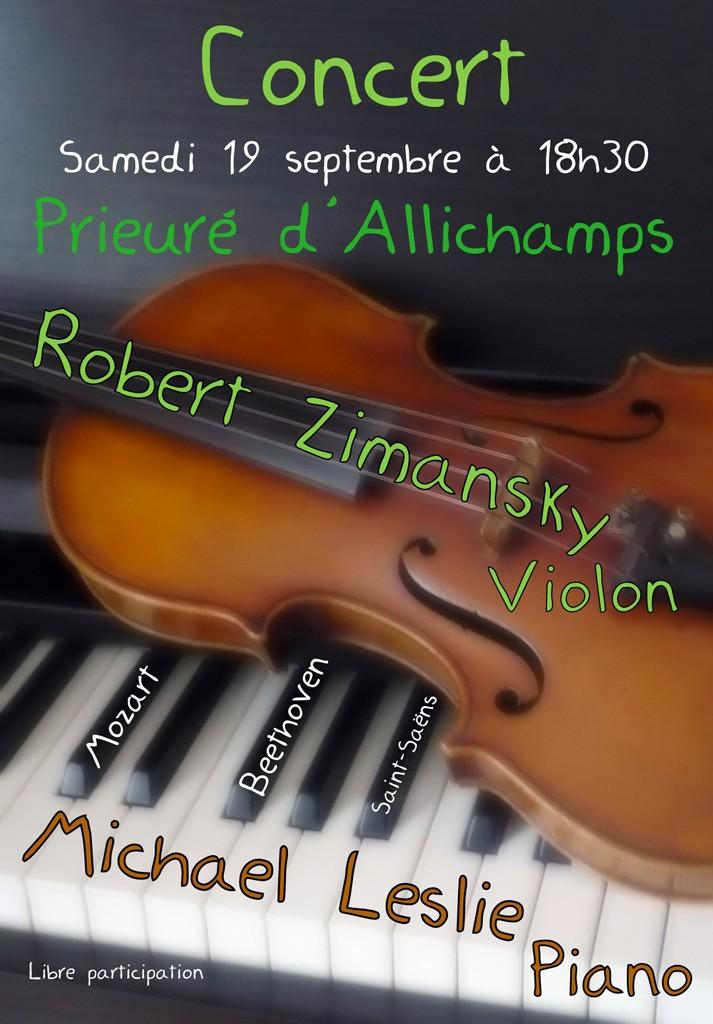Concert Robert Zimansky et Michael Leslie 19 septembre 2015