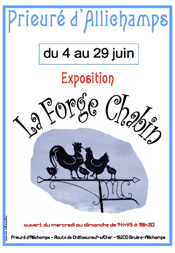 Affiche expo Forge Chabin