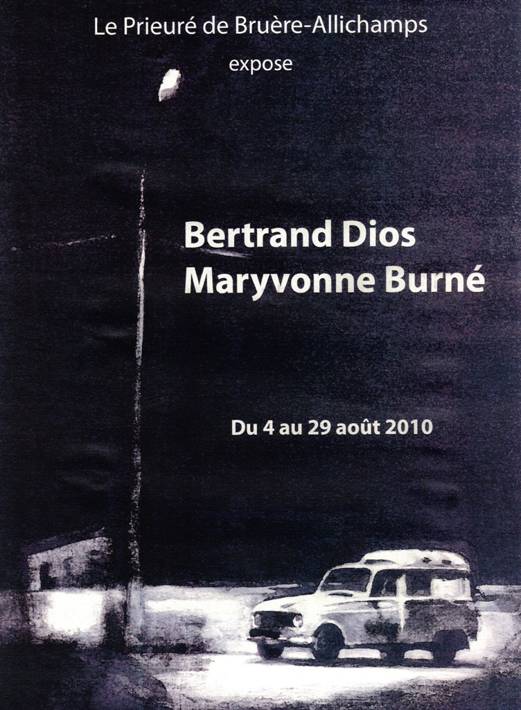 Août 2010 Exposition Maryvonne Burné et Bertrand Dios