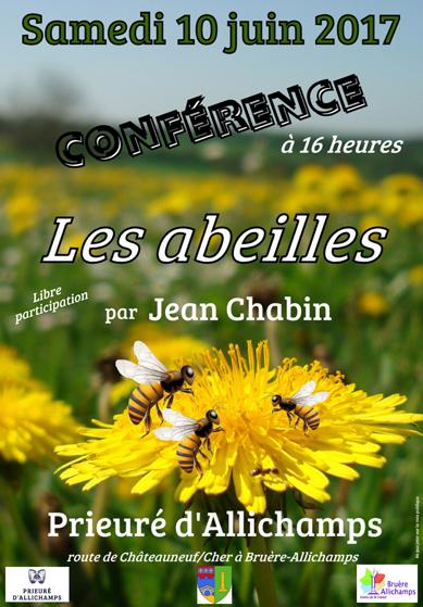 Saison 2017 – Conférence sur les abeilles par Jean Chabin