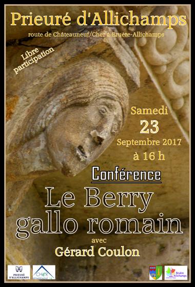 Saison 2017 – Conférence de Gérard Coulon sur le Berry gallo romain