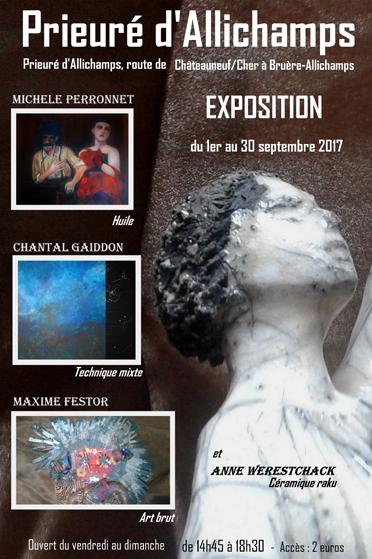 Saison 2017 – Collectif d'artistes : huile, technique mixte, céramique raku, art brut