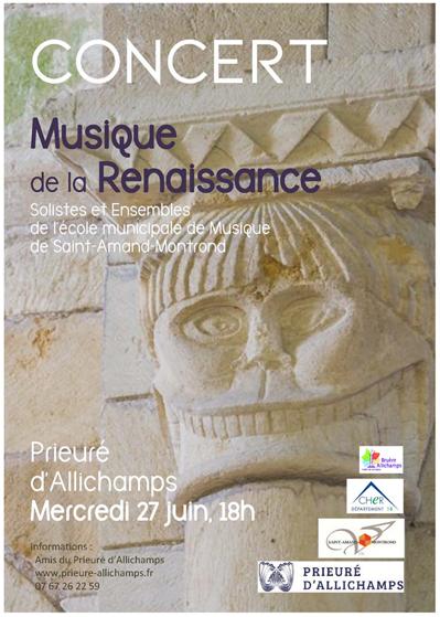Saison 2018 – Solistes et ensembles de l'Ecole municipale de musique de Saint-Amand-Montrond – Mercredi 27 juin à 18 heures
