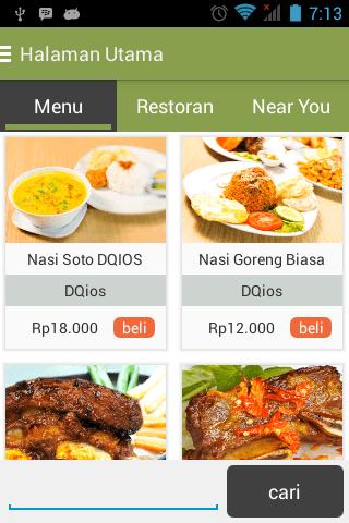 Aplikasi Pemesanan Makanan Online