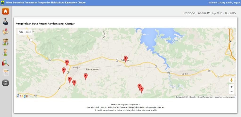 Aplikasi Pengelolaan Hasil Tani dan Lokasi Beras di Cianjur