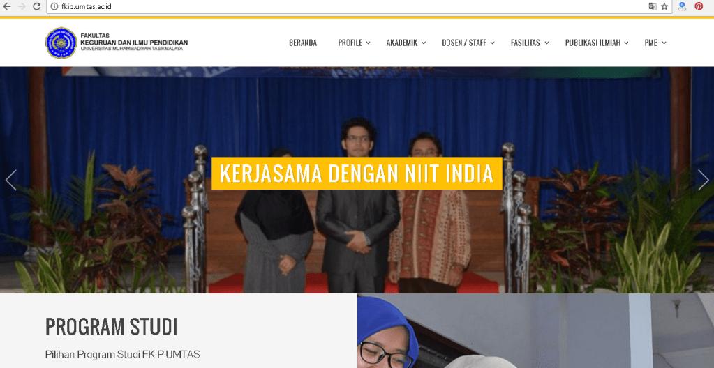 Pembuatan Web Profile Kampus, Fakultas Keguruan dan Ilmu Pendidikan UMTAS