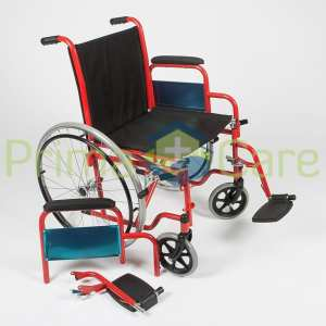 Wheelchair - Delux - Detached foot rest and arm