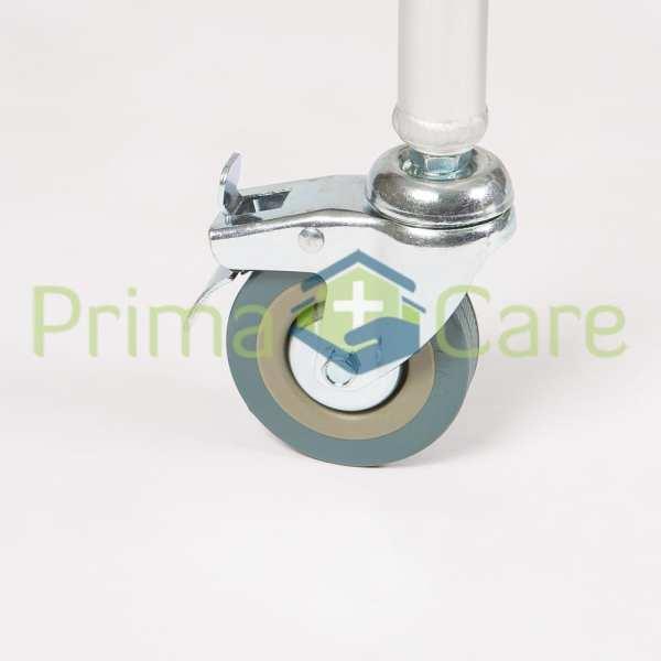 Commode - Aluminium - Folding - With lockable castors