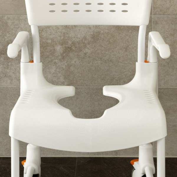 Etac-Clean-Mobile-Shower Commode-Front view