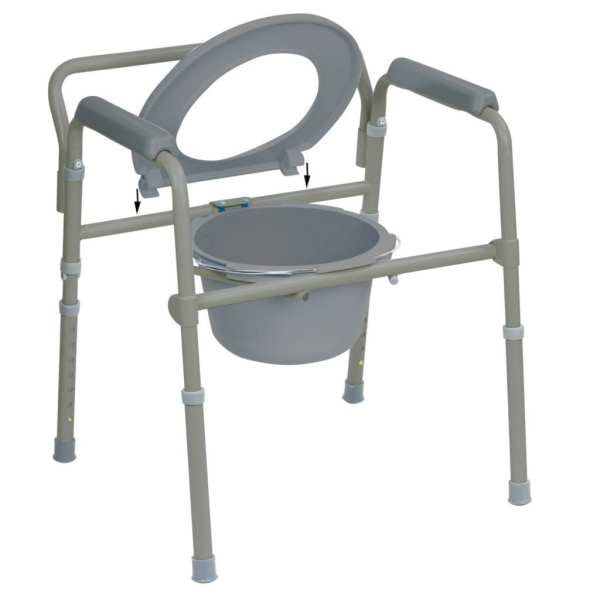 Commode - Standard - Folding - removable toilet seat
