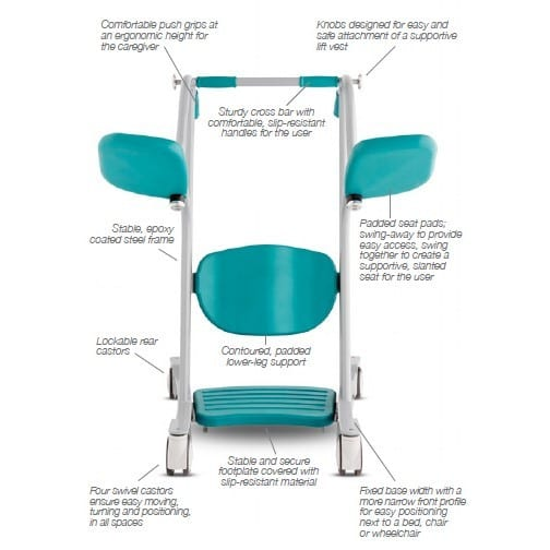 AMI - HandiCare - Sit to Stand Transfer Lifter - Overview