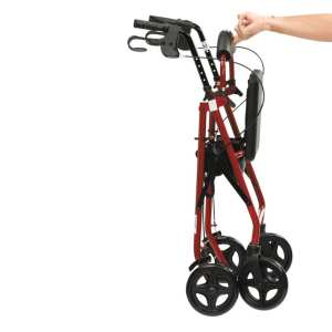Rollator - Drive Medical - R6 - Red - Folded