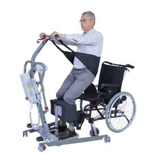 Patient Lifter - Drive Medical - Sit to Stand - Novaltis - In Use