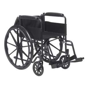 Wheelchair - Drive Medical - Silver Sport - Folded backrest