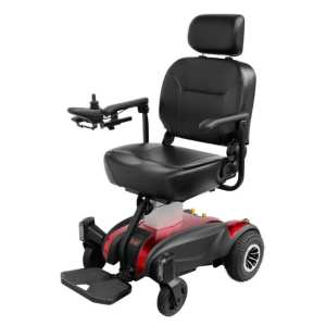 Electric Wheelchair - Solax - Seat Lift - Red