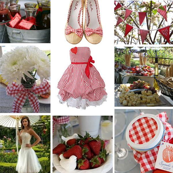 Summer Wedding Ideas: Red Gingham Summer Wedding